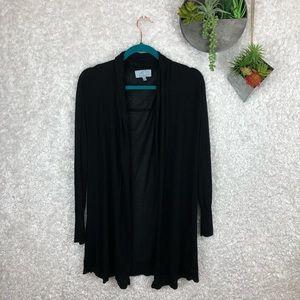 Joan Vass NY Black Duster Cardigan   XL